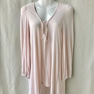 Free People Beach Pink Knit High Low Tunic, Small